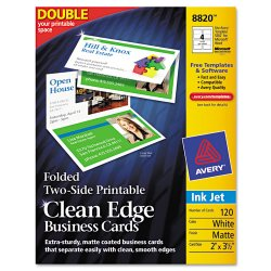 Avery Dennison - 8820 - Card Bus Folded Ce Ij We