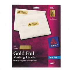 Avery dennison 8987 foil mailing labels 3 4 x 2 1 4 for Avery 8987 template