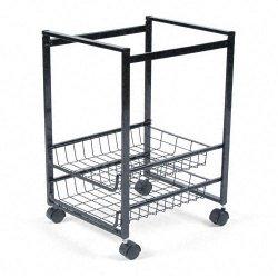 Advantus - 34075 - Advantus Mobile File Cart - 4 Casters - Steel - 16 Width x 13 Depth x 19.5 Height - Black Steel Frame - Black