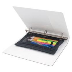Advantus - 63067 - Binder Pencil Pouch, 10 x 7 3/8, Black/Clear, 3/Pack