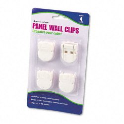Advantus - 75300 - Advantus Panel Wall Clip - 40 Sheet Capacity - 4 / Pack - White - Plastic