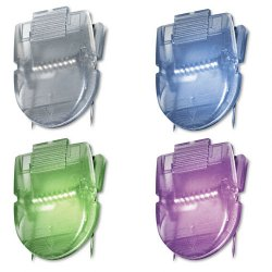 Advantus - 75338 - Advantus Color Panel Wall Clips - 40 Sheet Capacity - for Paper Clip - Repositionable - 20 / Box - Metallic