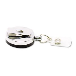 Advantus - 75406 - Advantus Premier Retractable Heavy Duty ID Reel With Badge Clip - Plastic, Steel - 12 / Box - Black, Silver
