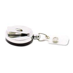 Advantus - 75406 - Advantus Premier Retractable Heavy Duty ID Reel With Badge Clip - Plastic, Steel - 12 / Box - Black, Silver