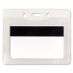 Advantus - 75411 - Advantus Horizontal Security Badge Holder - Vinyl - 50 / Box