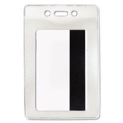 Advantus - 75419 - Advantus Vertical Security Badge Holder - Vinyl - 50 / Box