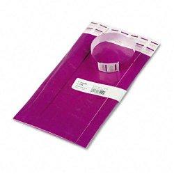 Advantus - 75440 - Advantus Tyvek Wristbands - 3/4 Width x 10 Length - Rectangle - Purple - Tyvek - 100 / Pack