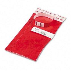Advantus - 75441 - Advantus Tyvek Wristbands - 3/4 Width x 10 Length - Rectangle - Red - Tyvek - 100 / Pack