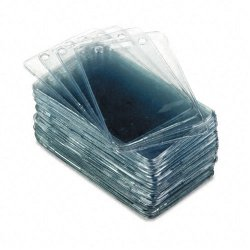 Advantus - 75451 - Advantus Proximity Card Vertical Badge Holder - 2.4 x 3.4 - Vinyl - 50 / Pack - Clear