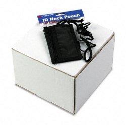Advantus - 75453 - Advantus Vertical ID/Convention Neck Pouch - Vertical - Nylon - 12 / Pack - Black