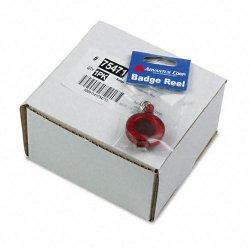 Advantus - 75471 - Advantus Translucent Retractable ID Card Reel with Snaps - Nylon, Metal - 12 / Pack - Translucent Red
