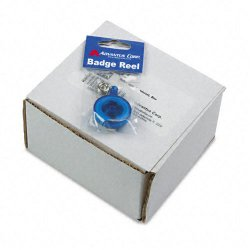 Advantus - 75472 - Advantus Translucent Retractable ID Card Reel with Snaps - Vinyl, Nylon, Metal - 12 / Pack - Translucent Blue, Clear