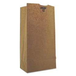 Duro Bag - 29812 - #12 Paper Grocery Bag, 50lb Kraft, Heavy-Duty 7 1/16 x 4 1/2 x 13 3/4, 500 bags