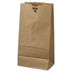 Duro Bag - 18420 - #20 Paper Grocery Bag, 20lb Kraft, Standard 8 1/4 x 5 5/16 x 16 1/8, 500 bags