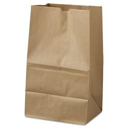 Duro Bag - 18421 - #20 Squat Paper Grocery Bag, 40lb Kraft, Std 8 1/4 x 5 15/16 x 13 3/8, 500 bags