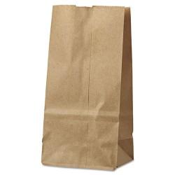 Duro Bag - 18402 - #2 Paper Grocery Bag, 30lb Kraft, Standard 4 5/16 x 2 7/16 x 7 7/8, 500 bags
