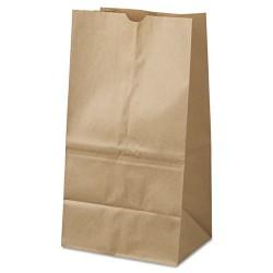 Duro Bag - 18428 - #25 Squat Paper Grocery Bag, 40lb Kraft, Standard 8 1/4 x6 1/8 x15 7/8, 500 bags