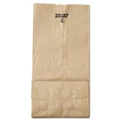 Duro Bag - 18404 - #4 Paper Grocery Bag, 30lb Kraft, Standard 5 x 3 1/3 x 9 3/4, 500 bags