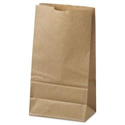 Duro Bag - 18406 - #6 Paper Grocery Bag, 35lb Kraft, Standard 6 x 3 5/8 x 11 1/16, 500 bags