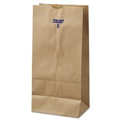 Duro Bag - 18408 - #8 Paper Grocery Bag, 35lb Kraft, Standard 6 1/8 x 4 1/6 x 12 7/16, 500 bags