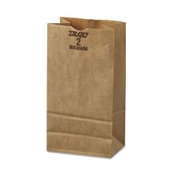 Duro Bag - 30902 - #2 Paper Grocery, 52lb Kraft, Extra-Heavy-Duty 4 5/16 x 2 7/16 x16 7/8, 500 bags