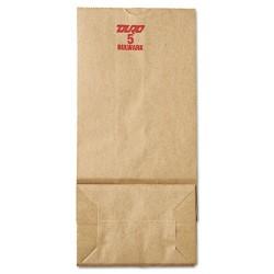Duro Bag - 30905 - #5 Paper Grocery, 50lb Kraft, Extra-Heavy-Duty 5 1/4x3 7/16 x10 15/16, 500 bags