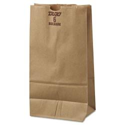 Duro Bag - 30906 - #6 Paper Grocery Bag, 50lb Kraft, Extra-Heavy-Duty 6 x 3 5/8 x 11 1/16, 500 bags