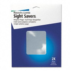 Bausch & Lomb - 819007 - Bausch & Lomb Magna Page Magnifier - Magnifying Area 8.25 Width x 10.75 Length - Acrylic Lens