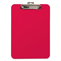 Baumgartens - 61622 - Unbreakable Recycled Clipboard, 1/4 Capacity, 8 1/2 x 11, Red