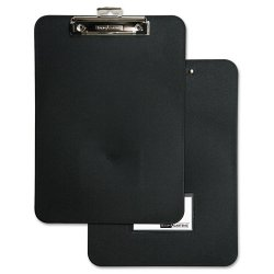 Baumgartens - 61624 - Unbreakable Recycled Clipboard, 1/2 Capacity, 8 1/2 x 11, Black