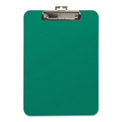 Baumgartens - 61626 - Unbreakable Recycled Clipboard, 1/4 Capacity, 8 1/2 x 11, Green