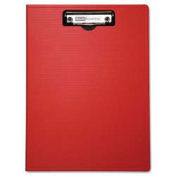 Baumgartens - 61632 - Portfolio Clipboard With Low-Profile Clip, 1/2 Capacity, 8 1/2 x 11, Red