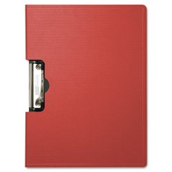 Baumgartens - 61642 - Portfolio Clipboard With Low-Profile Clip, 1/2 Capacity, 11 x 8 1/2, Red