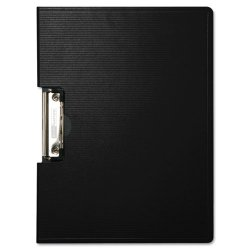 Baumgartens - 61644 - Portfolio Clipboard With Low-Profile Clip, 1/2 Capacity, 11 x 8 1/2, Black