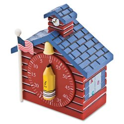 Baumgartens - 77062 - Baumgartens Schoolhouse Timer - Great for school or office-1 hour - Red - I Each