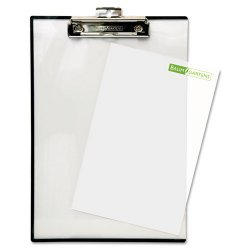 Baumgartens - TA1611 - Quick Reference Clipboard, 1/2 Capacity, 8 1/2 x 11, Clear