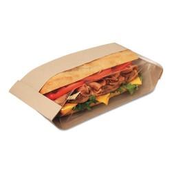 Bagcraft Papercon - BGC 300080 - Dubl View Sandwich Bags, 2.55 mil, 10 3/4 x 3 1/2 x 2 1/4, Natural Brown, 500/CT