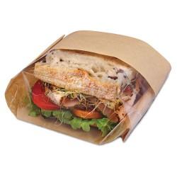 Bagcraft Papercon - BGC 300094 - Dubl View Sandwich Bags, 2.35 mil, 9 1/2 x 5 3/4 x 2 3/4, Natural Brown, 500/CT