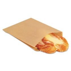 Bagcraft Papercon - BGC 300100 - NK25 EcoCraft Grease-Resistant Sandwich Bag, 6 1/2 x 1 x 8, Natural, 2000/Carton