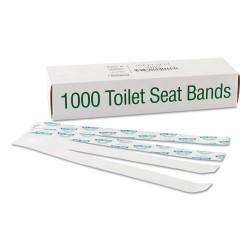 Bagcraft Papercon - BGC 300591 - Sani/Shield Printed Toilet Seat Band, Paper, Blue/White, 16 Wide x 1-1/2 Deep