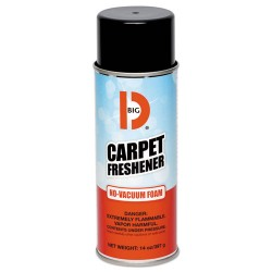 Big D Industries - 241 - No-Vacuum Carpet Freshener, Foam, Fresh Scent, 14 oz Aerosol, 12/Carton