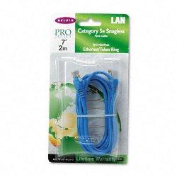 Belkin / Linksys - A3L791-07-BLU-S - Belkin Cat5e Network Cable - Category 5e - 7 ft - 1 Pack - 1 x RJ-45 Male Network - 1 x RJ-45 Male Network - Blue