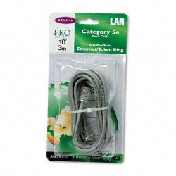 Belkin / Linksys - A3L791-10 - Belkin Cat. 5E UTP Patch Cable - RJ-45 Male - RJ-45 Male - 10ft - Gray