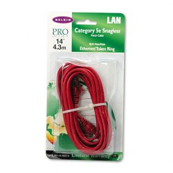 Belkin / Linksys - A3L791-14-RED-S - Belkin - Patch cable - RJ-45 (M) to RJ-45 (M) - 14 ft - UTP - CAT 5e - molded, snagless - red - for Omniview SMB 1x16, SMB 1x8, OmniView IP 5000HQ, OmniView SMB CAT5 KVM Switch