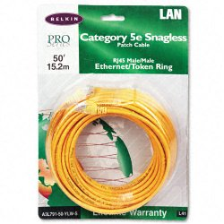 Belkin / Linksys - A3L791-50-YLW-S - Belkin Cat5e Patch Cable - RJ-45 Male Network - RJ-45 Male Network - 50ft - Yellow