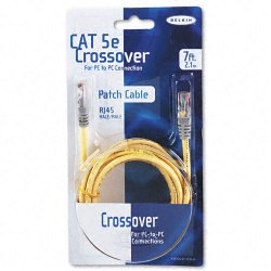 Belkin / Linksys - A3X126-07-YLW-M - Belkin Cat5e Crossover Cable - RJ-45 Male Network - RJ-45 Male Network - 7ft - Yellow