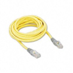 Belkin / Linksys - A3X126-10-YLW-M - Belkin - Crossover cable - RJ-45 (M) to RJ-45 (M) - 10 ft - CAT 5e - molded - yellow
