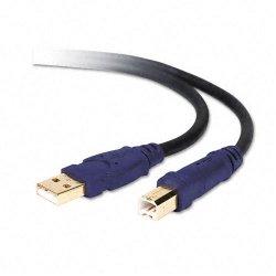 Belkin / Linksys - F3U133-10-GLD - Belkin USB 2.0 Cable - Type A Male - Type B Male - 10ft - Black