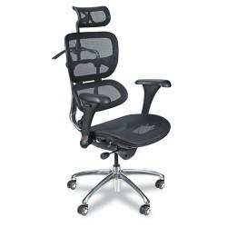 Balt / MooreCo - 34729 - Black Mesh Task Chair 24 Back Height, Arm Style: Adjustable