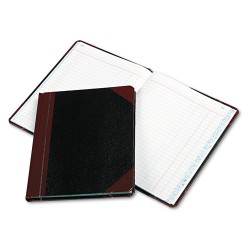 Boorum & Pease - 38-150-J - Record/Account Book, Journal Rule, Black/Red, 150 Pages, 9 5/8 x 7 5/8